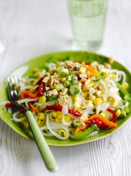 Pepper & noodle salad