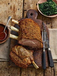 Chestnut & porcini-crusted veal rack