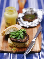 Garlic mushroom burgers