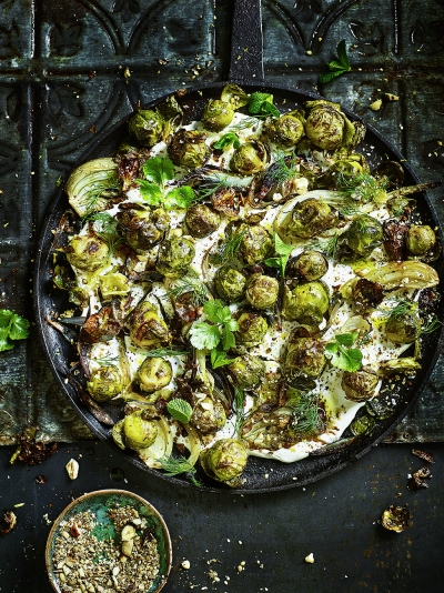 Vegetarian recipes jamie oliver middle eastern roasted sprouts forumfinder Gallery