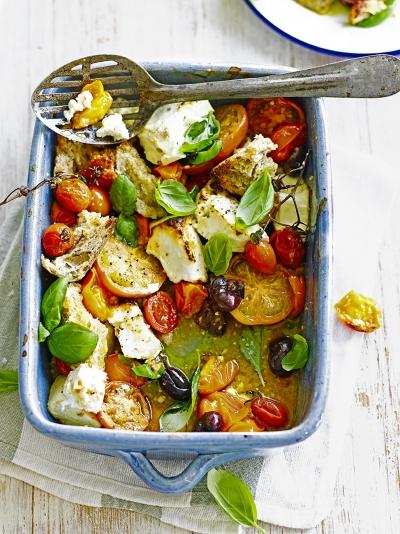 Baked feta & tomatoes