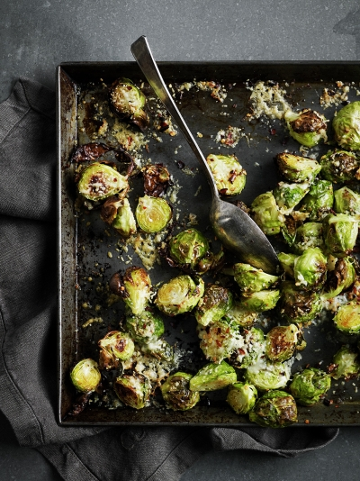 Parmesan Brussels sprouts