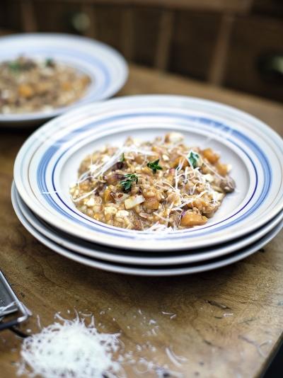 Squash & sausage risotto image
