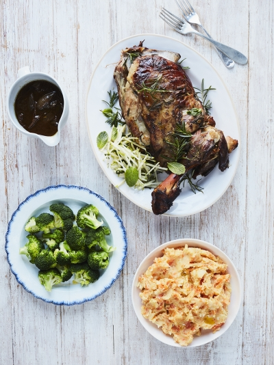 Rosemary & garlic lamb shoulder