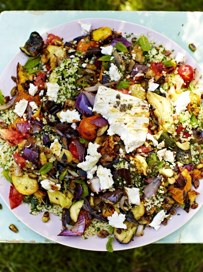 Bbq food recipes jamie oliver griddled vegetables feta with tabbouleh forumfinder Image collections
