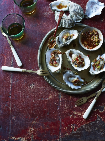 Cantonese-style steamed oysters