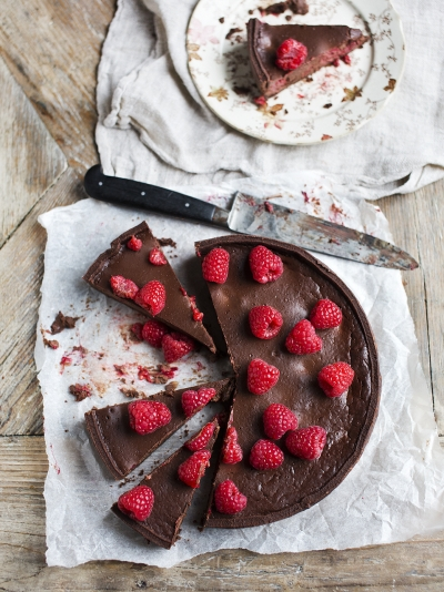 Ultimate chocolate & raspberry tart