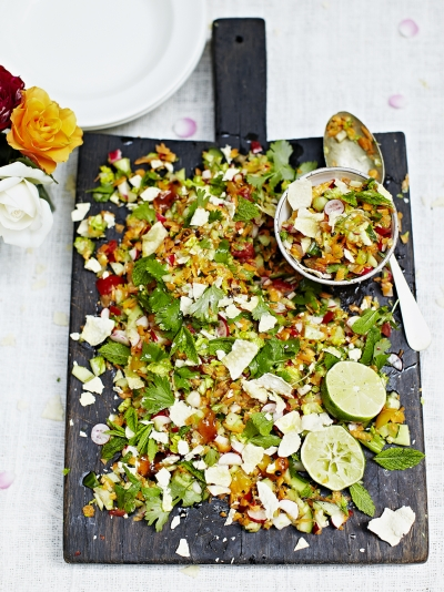 Jamie oliver indian chopped salad 15m super easy forumfinder Images