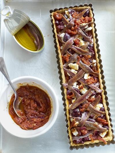 Jamie oliver tomato black olive feta anchovy tart forumfinder Images