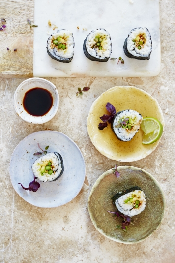 Party food recipes jamie oliver asparagus sushi forumfinder Gallery