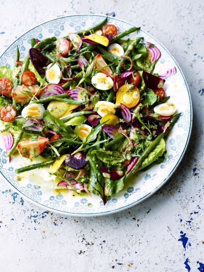 Beetroot nicoise salad