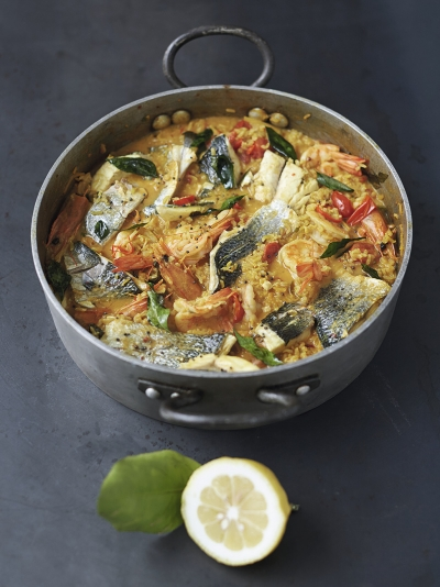 Easy curried fish stew