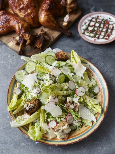 Ultimate roast chicken Caesar salad