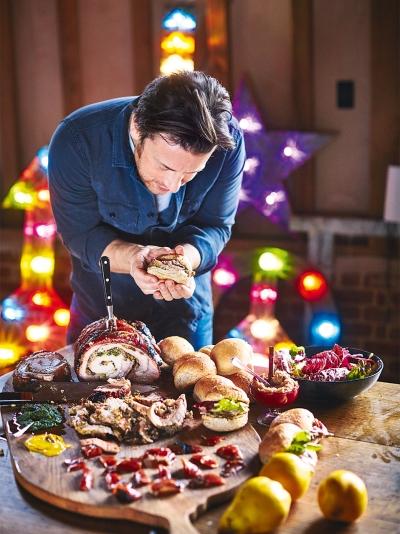 Weihnachtsessen Jamie Oliver.Porchetta