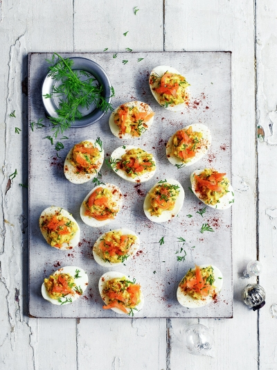 Christmas party food christmas jamie oliver salmon devilled eggs forumfinder Image collections