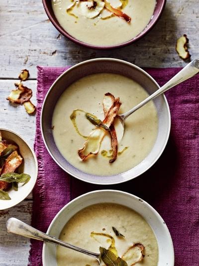 Parsnip, sage & white bean soup