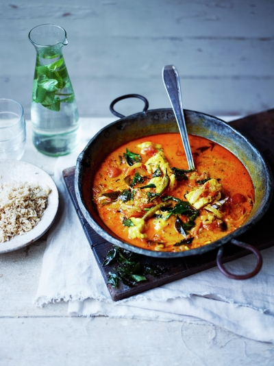 Sri Lankan-style monkfish curry
