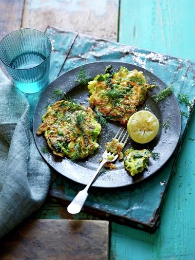 Green veggie fritters
