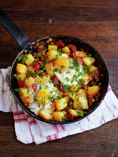 Potato & chorizo breakfast hash