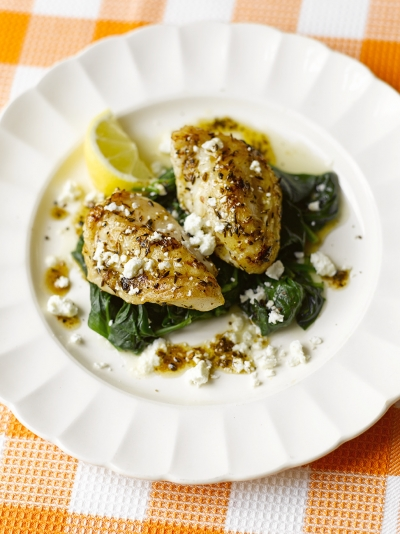 Romantic recipes jamie oliver monkfish with spinach feta forumfinder Image collections