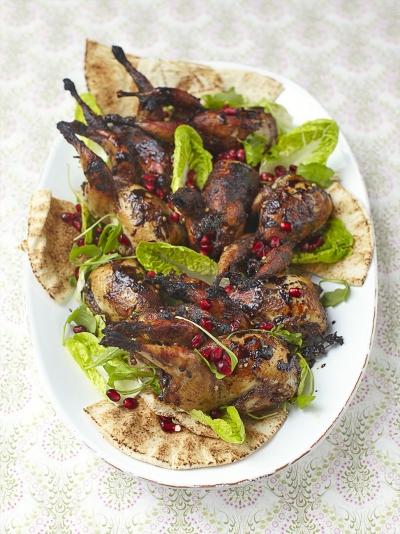 Sweet & sticky roast quail
