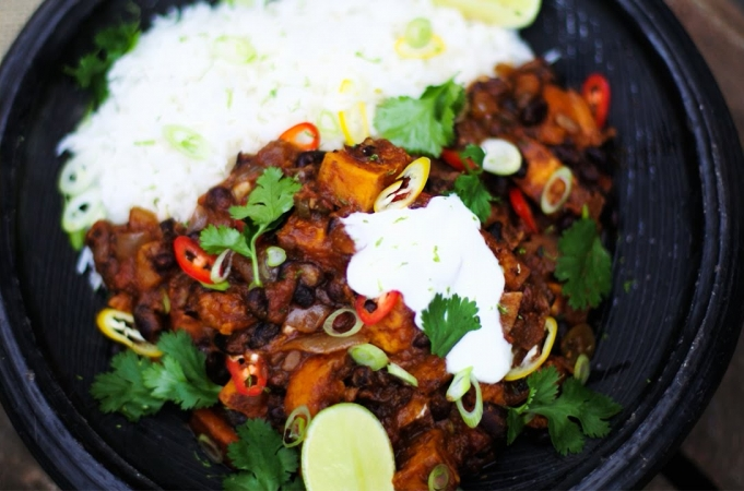 Smoky Sweet Potato Chilli