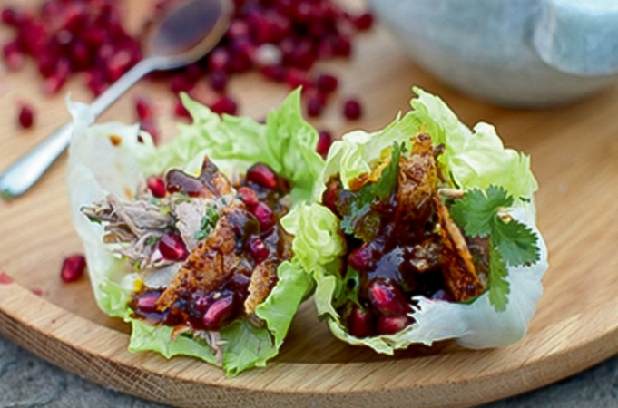 Crispy Roast Duck Wraps